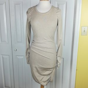 Victoria's Secret rouched bodycon sweater dress